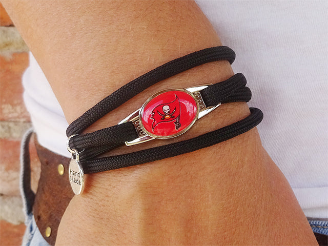Tampa Bay Buccaneers Officially Licensed Designer Wrap Bracelet