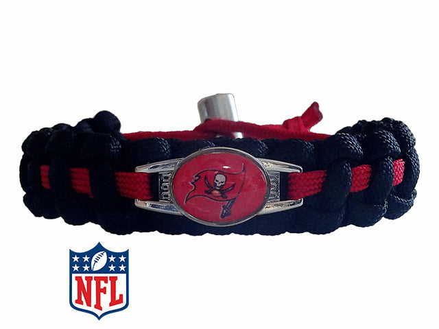 Officially Licensed NFL Tampa Bay Buccaneers Paracord Bracelet