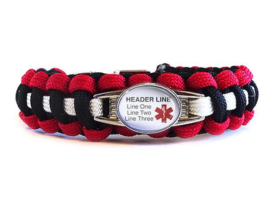 Customizable Medical ID Bracelet - Template 3