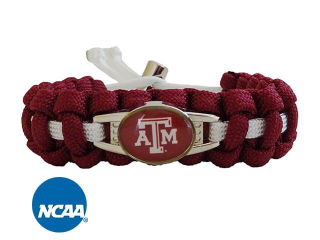 Officially Licensed Texas A&M Aggies Paracord Bracelet