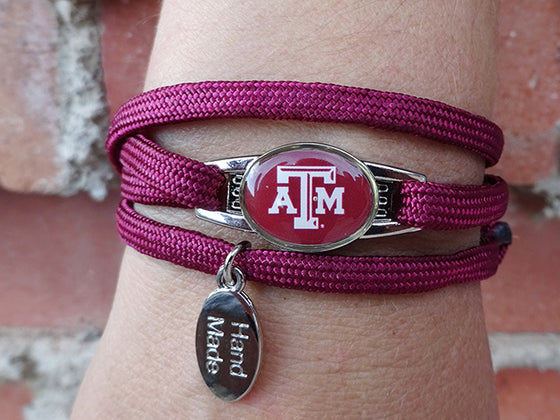 Texas A&M Aggies Officially Licensed Designer Wrap Bracelet