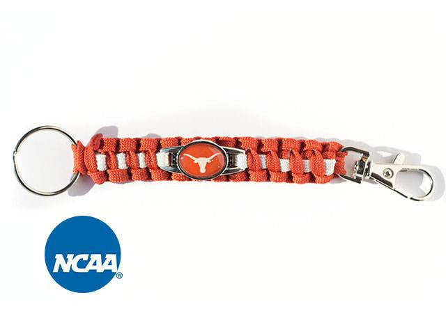 Officially Licensed Texas Longhorns Paracord Keychain