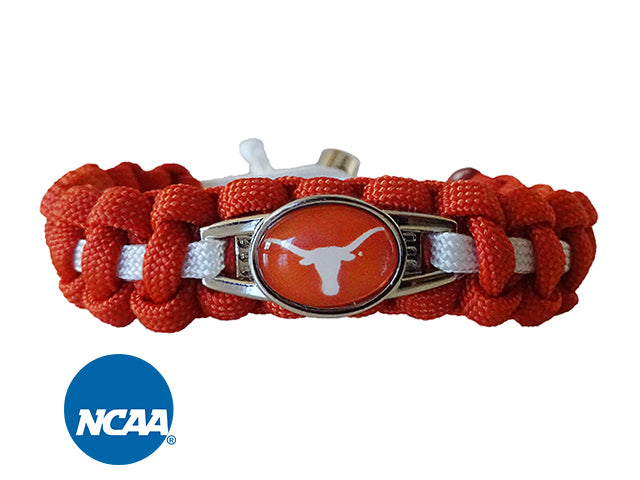 Officially Licensed Texas Longhorns Paracord Bracelet
