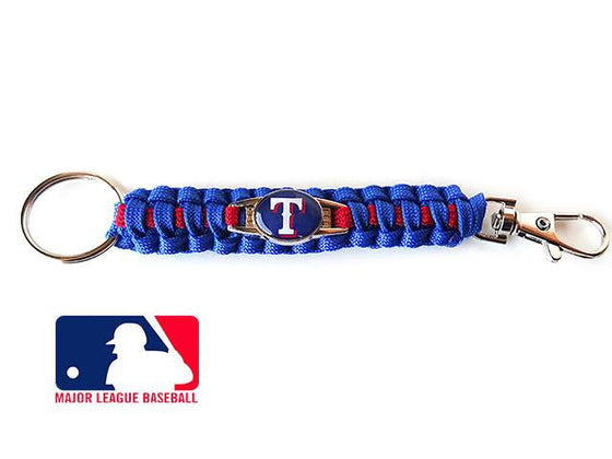 Officially Licensed MLB Texas Rangers Paracord Keychain