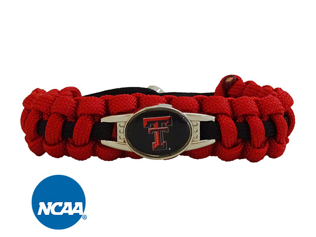 Officially Licensed Texas Tech Red Raiders Paracord Bracelet