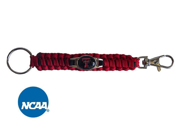 Officially Licensed Texas Tech Red Raiders Paracord Keychain
