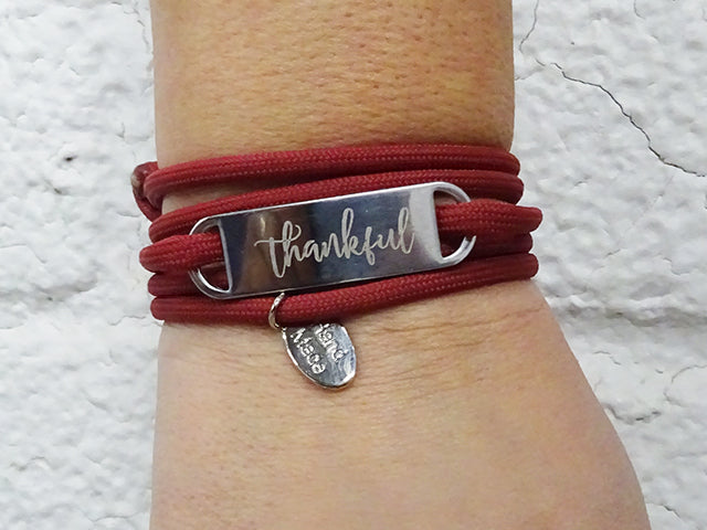 """Thankful"" Designer Wrap Bracelet"
