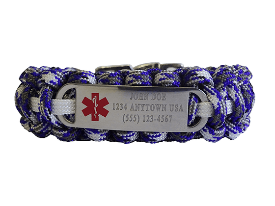 Custom Engraved Medical ID Bracelet - Three Lines