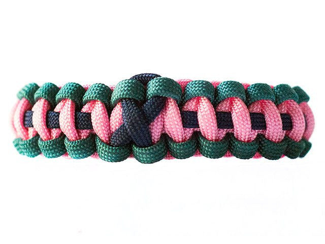 Thyroid Cancer Awareness Paracord Bracelet