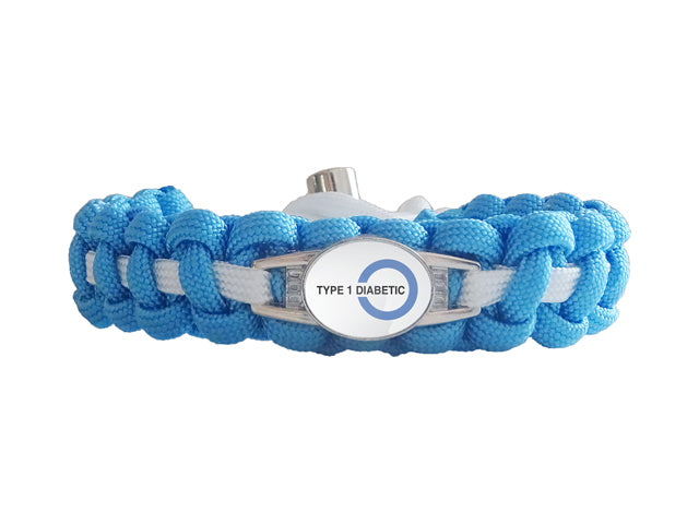 Medical ID Type 1 Diabetic Paracord Bracelet | Made By US ...