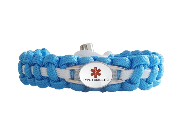 Medical Id Type 1 Diabetic Paracord Bracelet Made By Us