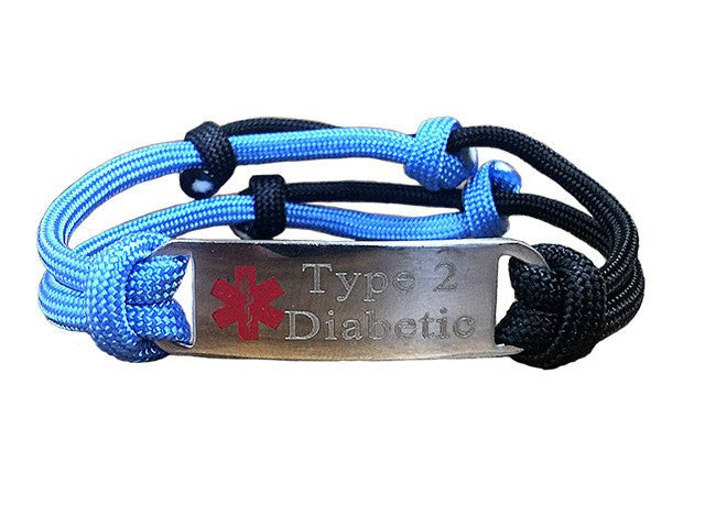 "Type 2 Diabetic ""Alert Your Medicool"" Alert Bracelet"