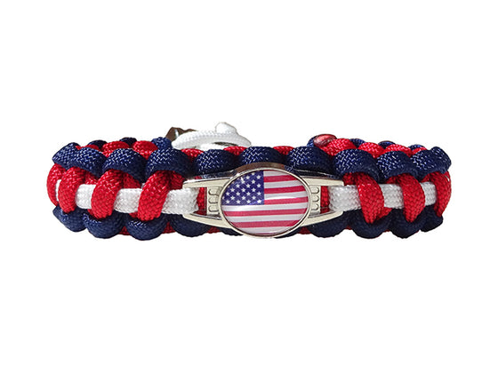 USA Paracord Survival Bracelet