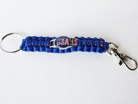 """U.S.A"" Paracord Key Chain"