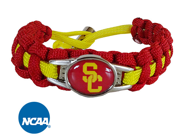 Officially Licensed USC Trojans Paracord Bracelet
