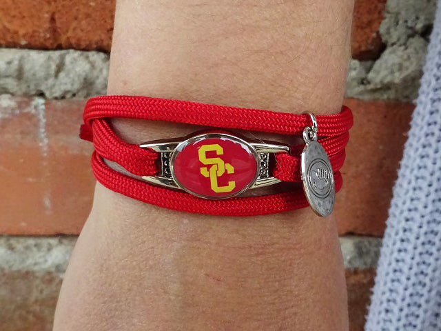 USC Trojans Officially Licensed Designer Wrap Bracelet