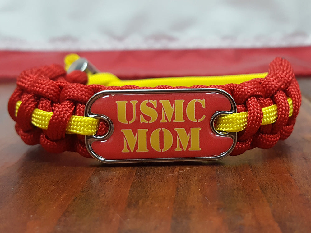 USMC Dog Tag Paracord Bracelet