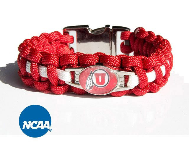 Officially Licensed Utah Utes Paracord Bracelet