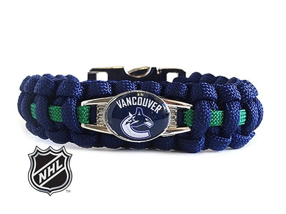 Officially Licensed NHL Vancouver Canucks Paracord Bracelet