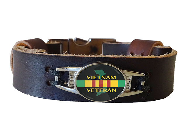 Vietnam Veteran Leather Bracelet