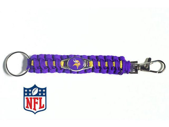 Officially Licensed Minnesota Vikings NFL Paracord Keychain
