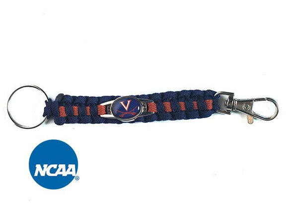 Officially Licensed Virginia Cavaliers Paracord Keychain