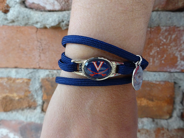 Virginia Cavaliers Officially Licensed Designer Wrap Bracelet