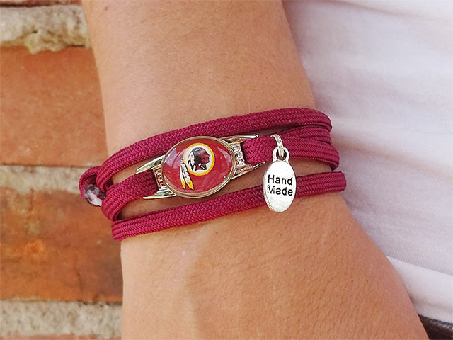Washington Redskins Officially Licensed Designer Wrap Bracelet
