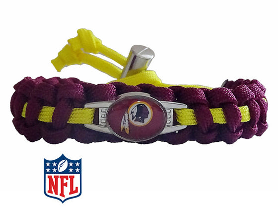 Officially Licensed NFL Washington Redskins Paracord Bracelet