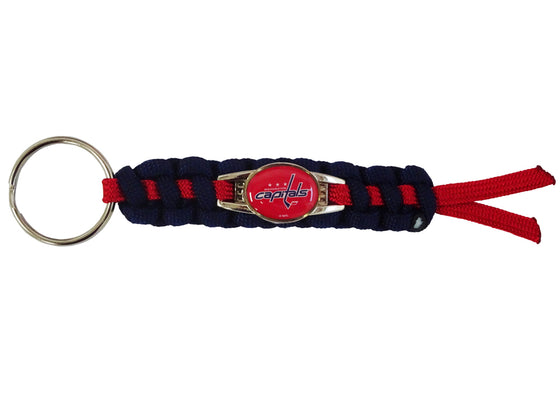 Officially Licensed Washington Capitals NHL Paracord Mini Keychain