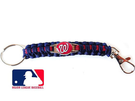 Officially Licensed MLB Washington Nationals Paracord Keychain