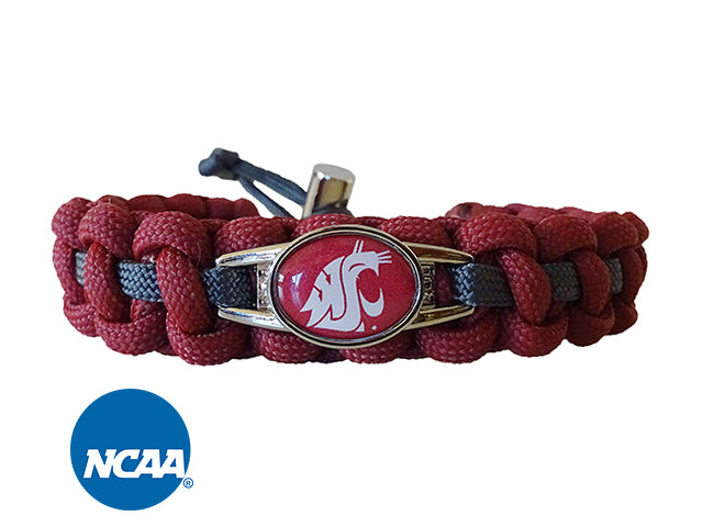 Officially Licensed Washington State Cougars Paracord Bracelet