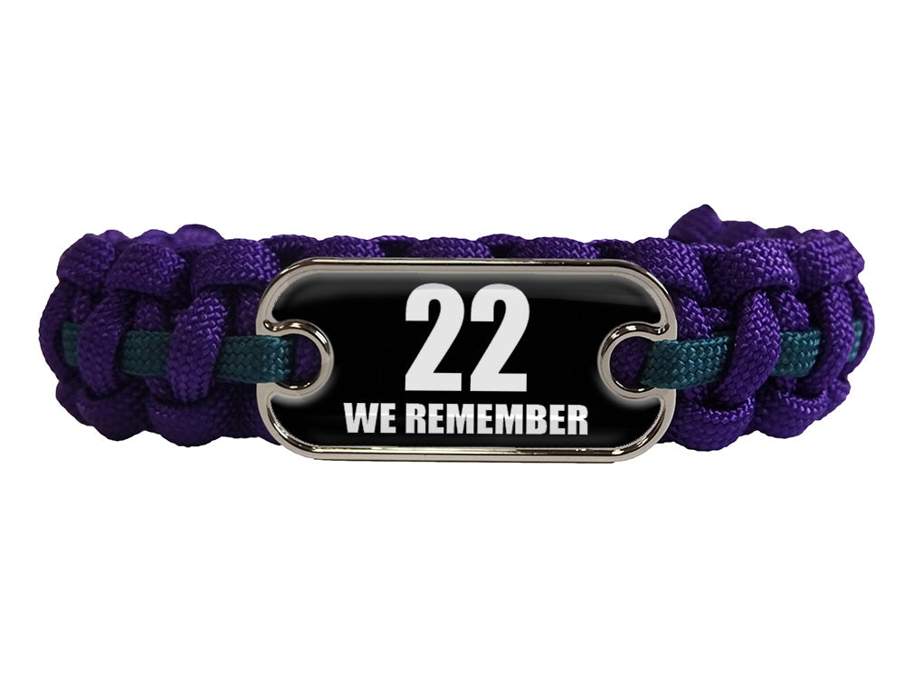 We Remember Dog Tag Paracord Bracelet