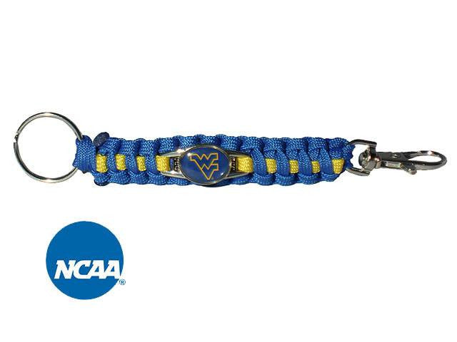 Officially Licensed West Virginia Mountaineers Paracord Keychain