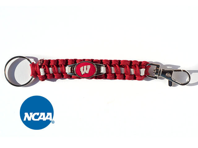 Officially Licensed Wisconsin Badgers Paracord Keychain