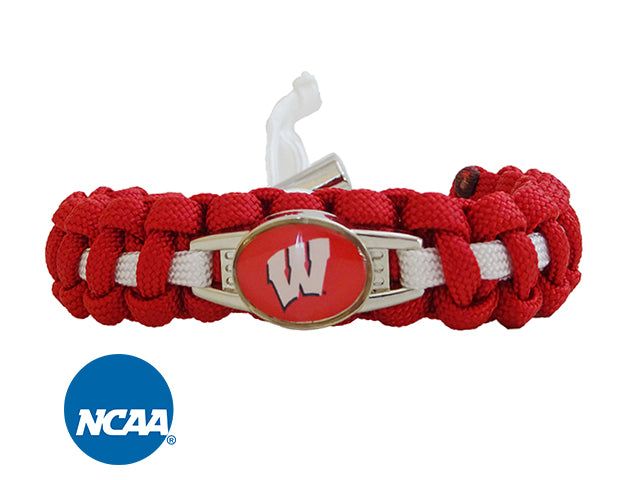Officially Licensed Wisconsin Badgers Paracord Bracelet