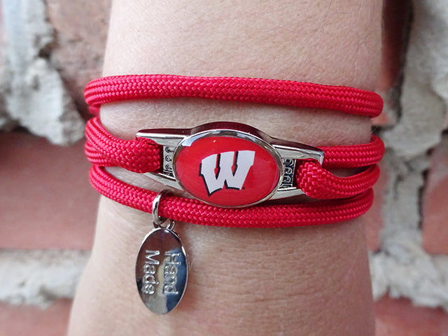 Wisconsin Badgers Officially Licensed Designer Wrap Bracelet