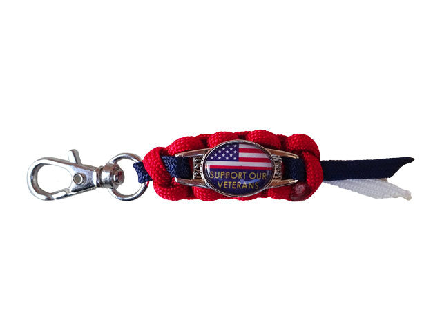 Support Our Veterans Zipper Pull / Keychain