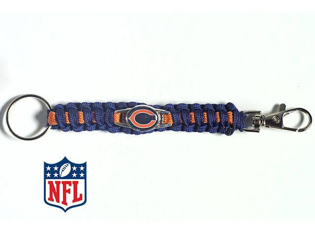 Officially Licensed Chicago Bears NFL Paracord Keychain