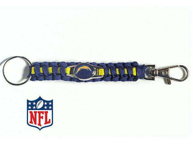 Officially licensed San Diego Chargers NFL Paracord Keychain