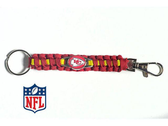 Officially Licensed Kansas City Chiefs NFL Paracord Keychain