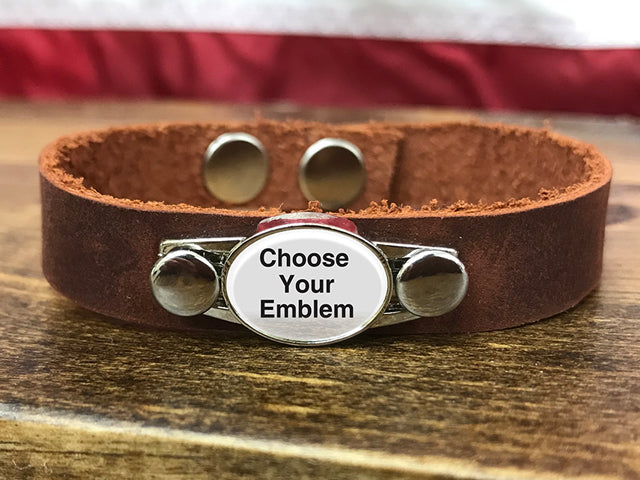 Armed Forces Leather Bracelet