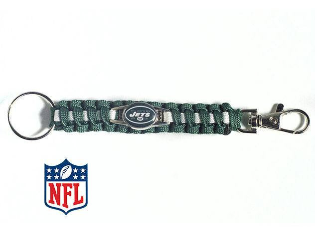 Officially Licensed New York Jets NFL Paracord Keychain