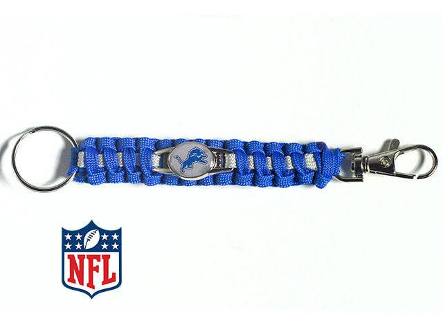 Officially Licensed Detroit Lions NFL Paracord Keychain