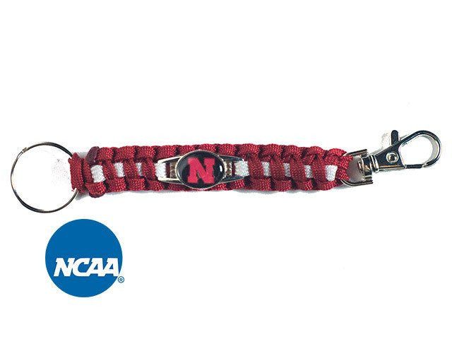 Officially Licensed Nebraska Cornhuskers Paracord Keychain