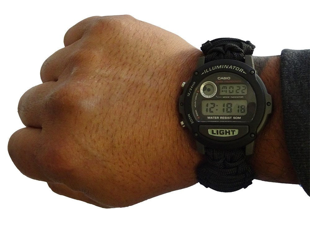 Paracord Watch with Casio Watch Face
