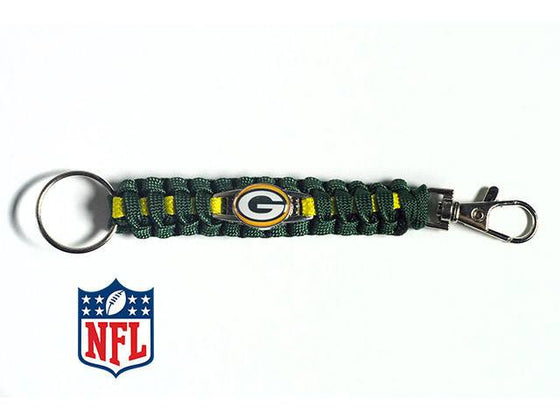 Officially Licensed Green Bay Packers NFL Paracord Keychain