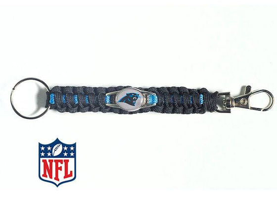 Officially Licensed Carolina Panthers NFL Paracord Keychain
