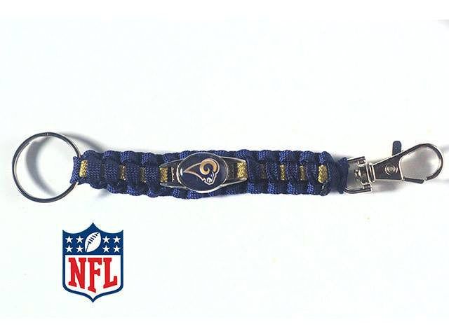 Officially Licensed Los Angeles Rams NFL Paracord Keychain