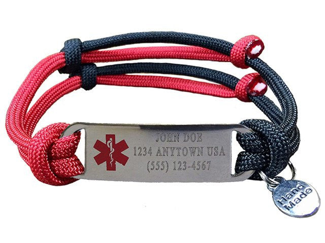 "Customizable ""Alert Your Medicool"" Bracelet - Three Lines"